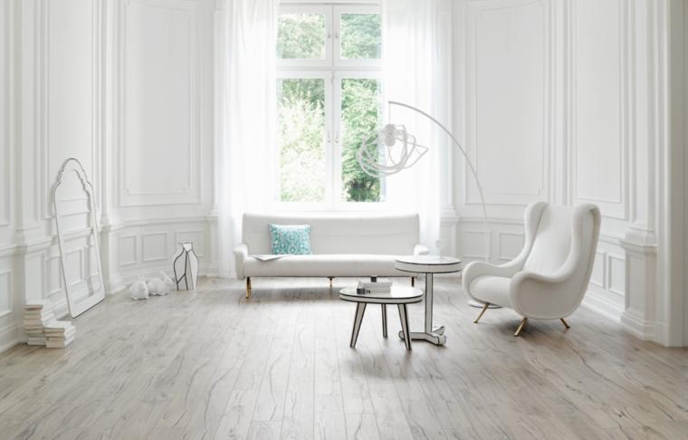 arredamento soggiorno colore bianco design minimal