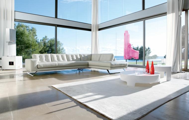 arredamento soggiorno mobili colore bianco design moderno