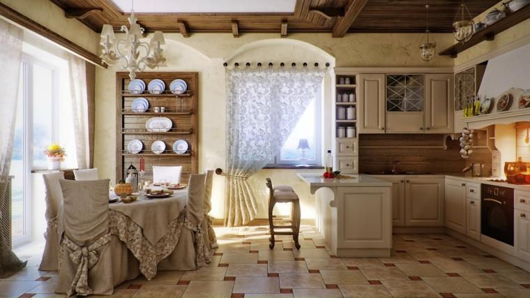 arredamento stile provenzale idea cucina sala pranzo