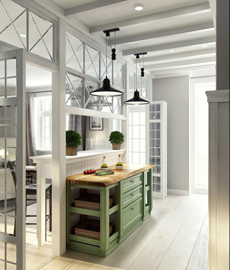 arredamento stile provenzale mobile colore verde