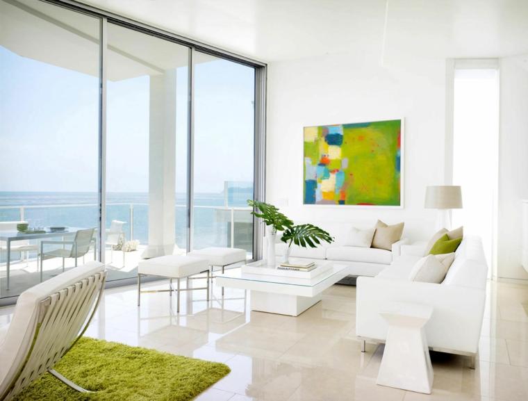 arredare soggiorno mobili colore bianco