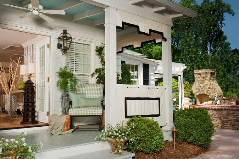 arredo esterno veranda originale legno