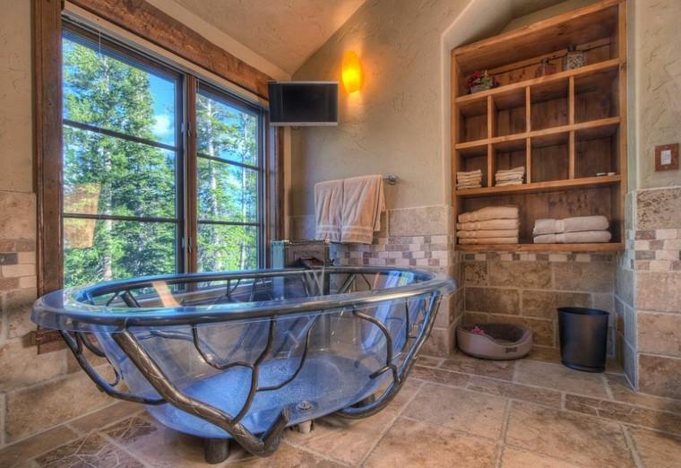 bagno design vasca originale vetro