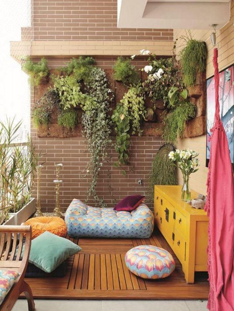 balconi piccole dimensioni calpestio legno