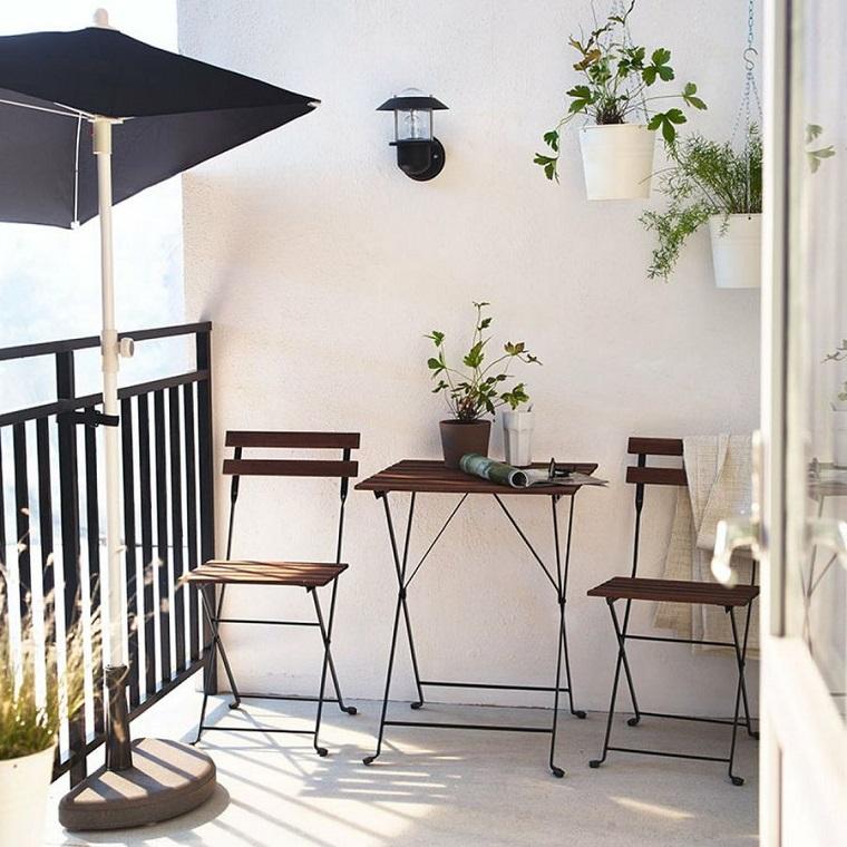 balconi piccole dimensioni stile minimal