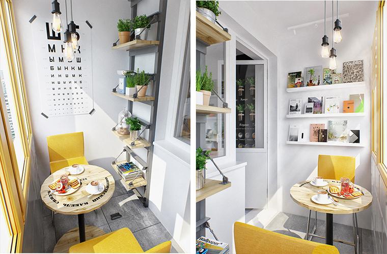 balconi piccoli idee ottimizzare spazio