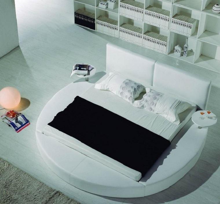 camera da letto arredata stile contemporaneo mobili colore bianco