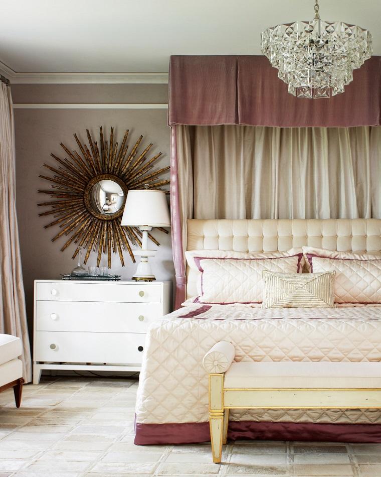 camera da letto moderna color crema