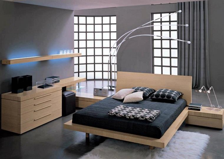 camere da letto moderne mobili legno