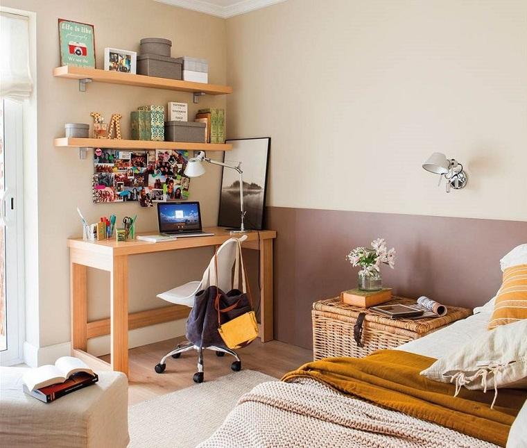 cameretta arredata design moderno mobili legno