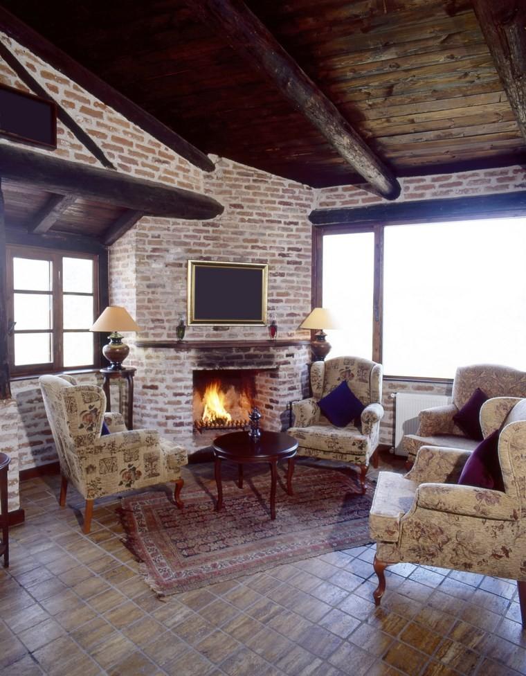 camino moderno suggerimento originale particolare soggiorno
