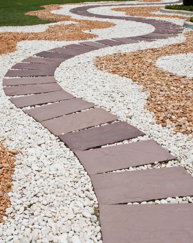 Vialetti giardino 34 proposte per abbellire il proprio - Camminamento pietra giardino ...