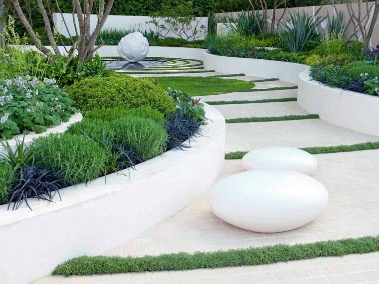 Giardini moderni con sassi top view images progetti per for Giardini moderni design