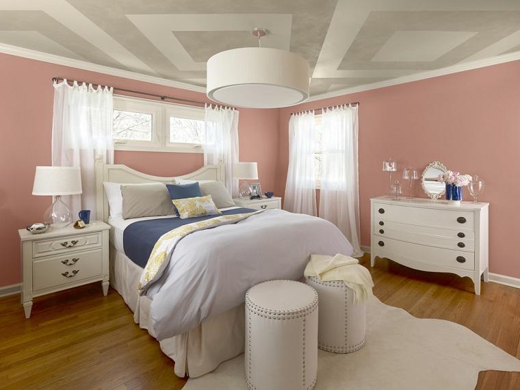 Camere Da Letto Rosa Antico : Pareti colorate come personalizzare living e camere da letto con