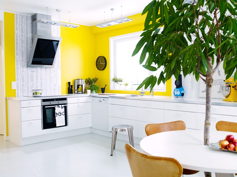 Mobili Cucina Giallo.Colori Pareti Cucina 24 Abbinamenti Veramente Originali