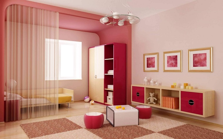 Colore rosa antico per pareti cameretta per bambine con for Pareti rosa cipria