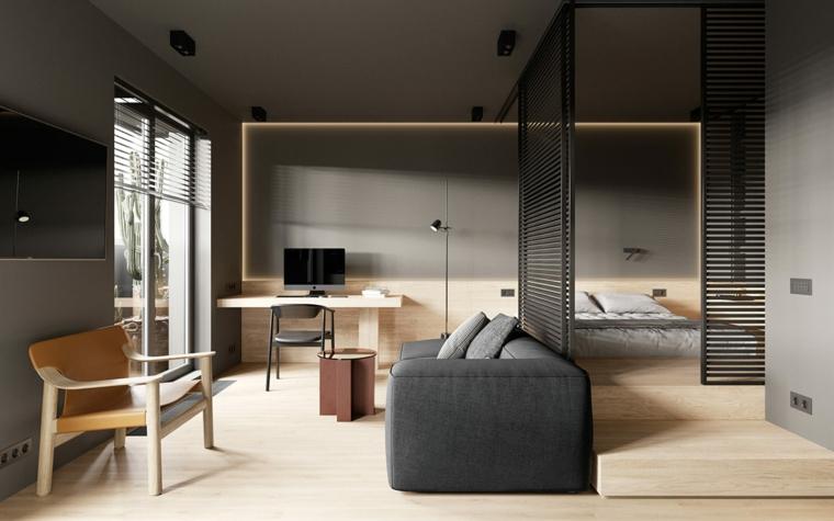 come arredare un monolocale di 35 mq con soppalco open space camera da letto soggiorno