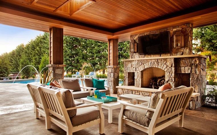 come arredare una veranda design rustico