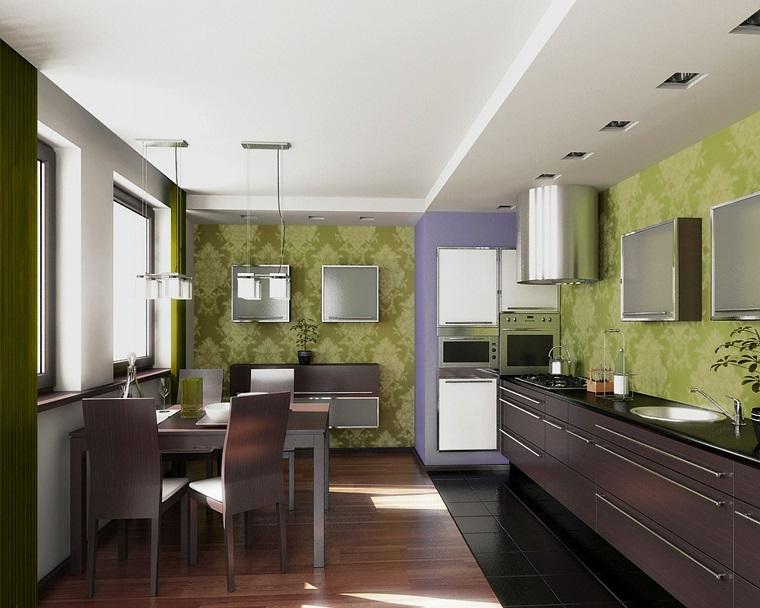 Mobili Scuri Colore Pareti : Colori pareti cucina: 24 abbinamenti veramente originali archzine.it