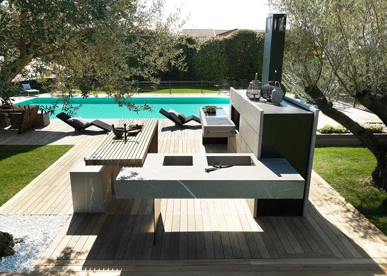 Cucine da esterno soluzioni tecnologiche e dal design - Giardino moderno design ...