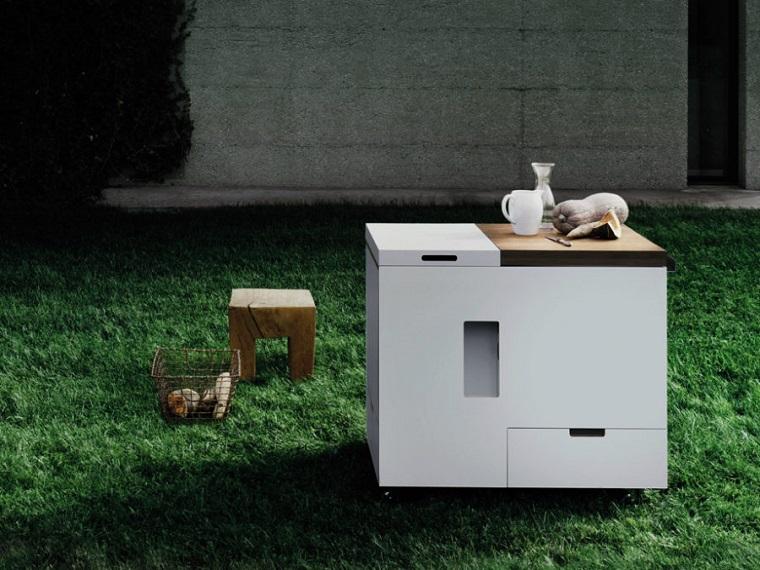 cucine da esterno proposta compatta design ultra moderno