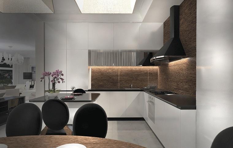 Cucine moderne bianche: la magia del colore che illumina lo ...