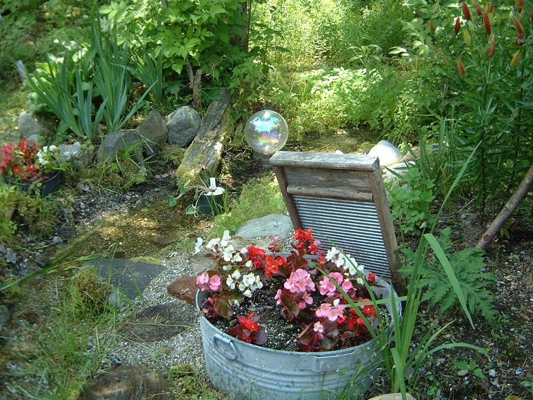 decorazioni fai da te fiori giardino