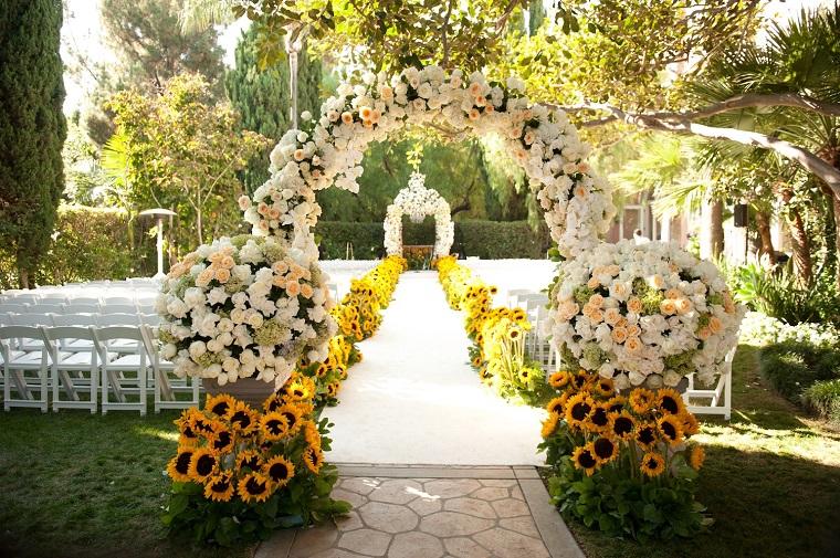 decorazioni giardino allestimento matrimonio