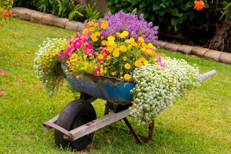 decorazioni giardino fai da te fiori