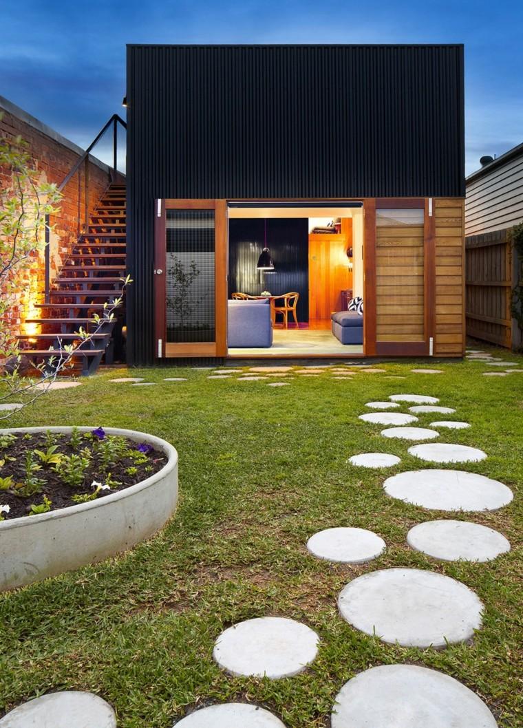 decorazioni giardino pavimentazione originale forma rotonda