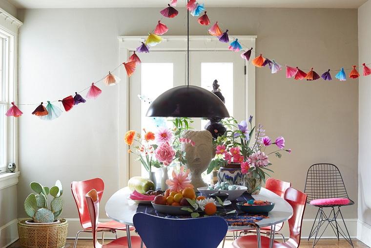 decorazioni pasquali fai da te sala pranzo