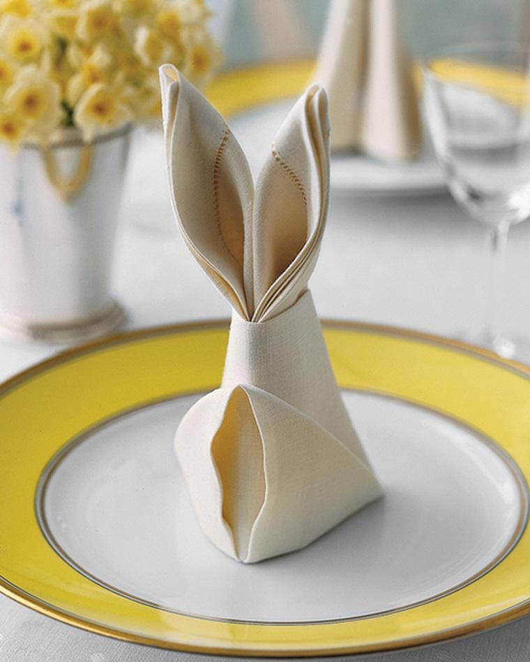 decorazioni pasquali fai da te segnaposto coniglietto