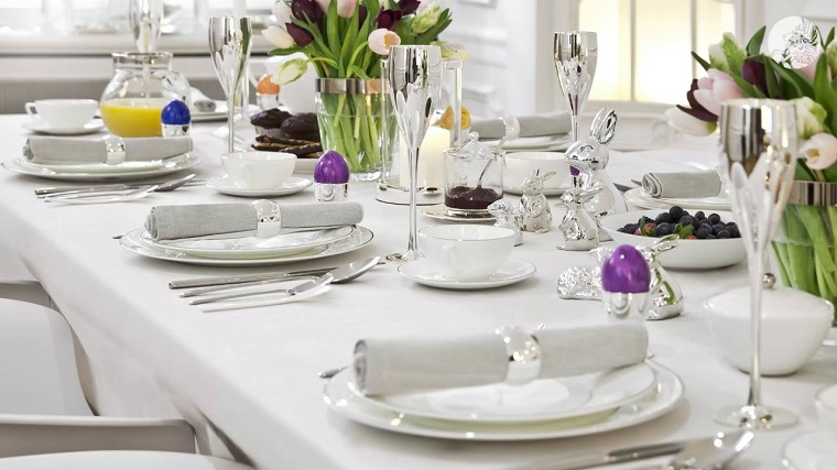 decorazioni pasquali fai da te tavolo elegante