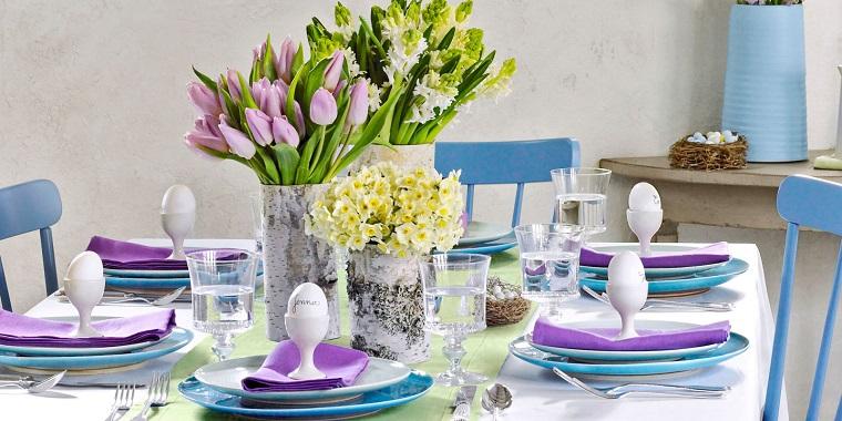 decorazioni pasquali fai da te tavolo fiori