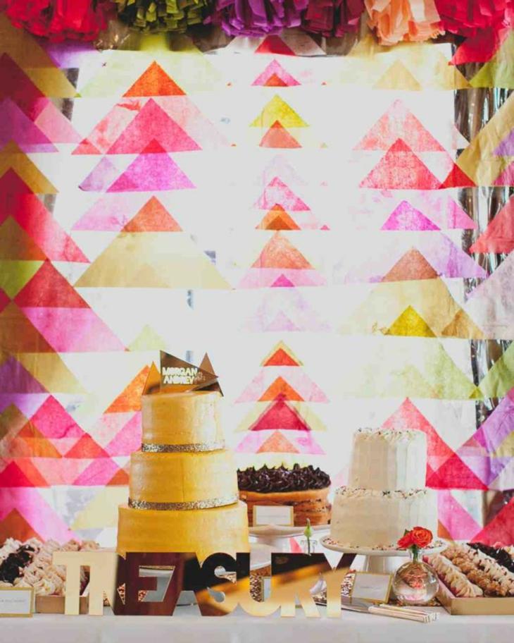decorazioni per matrimonio semplici originali colori vivaci