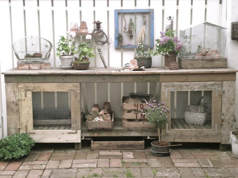 decorazioni shabby chic giardino oggetti riciclati
