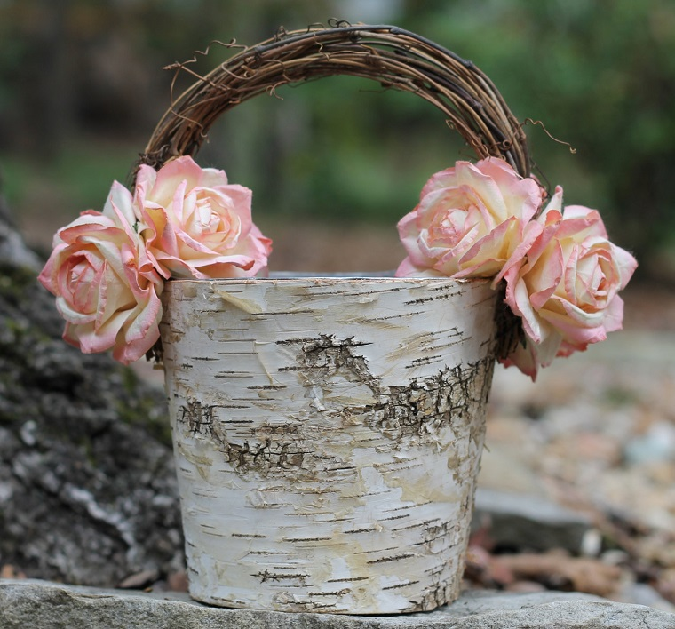 decorazioni shabby chic giardino vaso rose