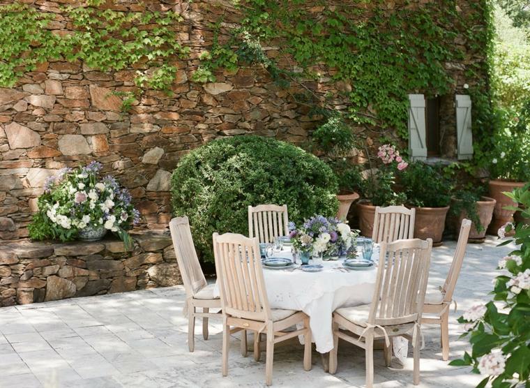 ecco come arredare decorare giardino stile tradizionale