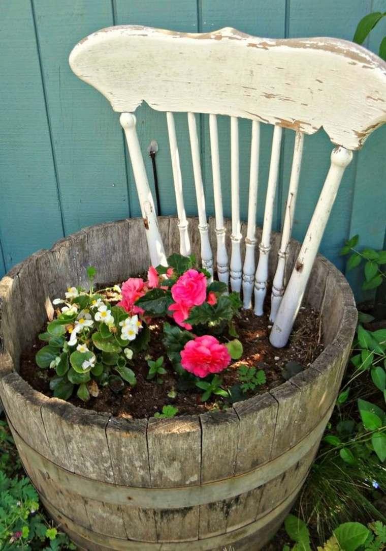 ecco come recuperare oggetti legno decorazione giardino