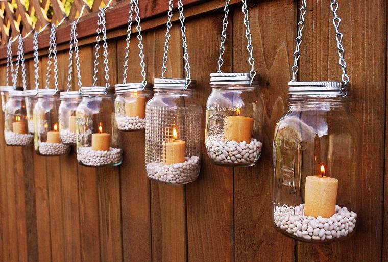 ecco idea fai da te illuminazione giardino