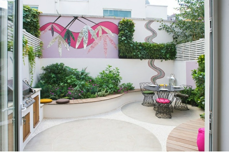 ecco idea originale arredare veranda tanti colori