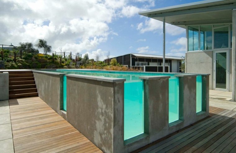 giardini con piscina idea mozzafiato angolo outdoor