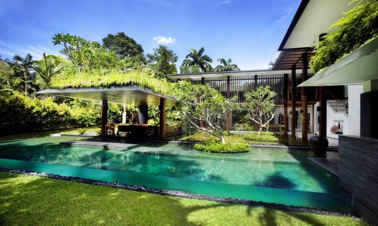 giardini con piscina idea mozzafiato angolo verde sogno