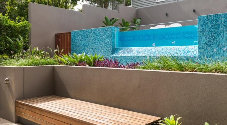 giardini con piscina idea originale particolare