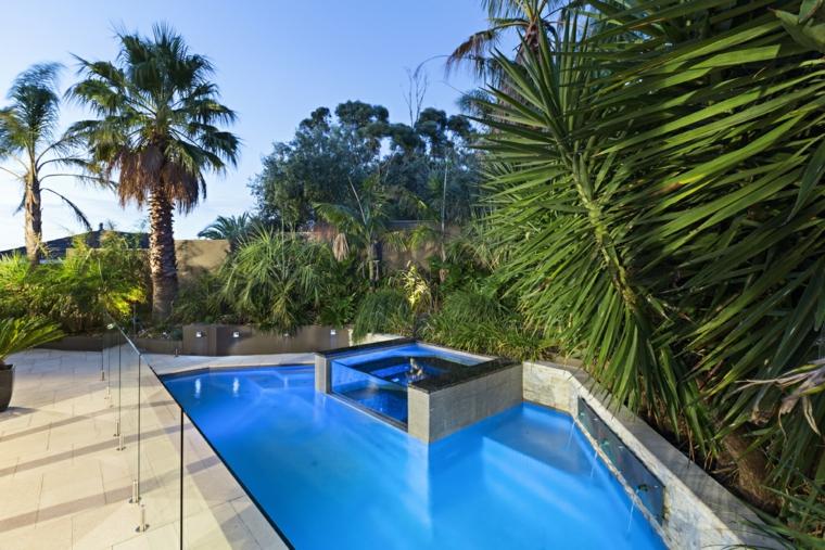 giardini con piscina idea outdoor particolare