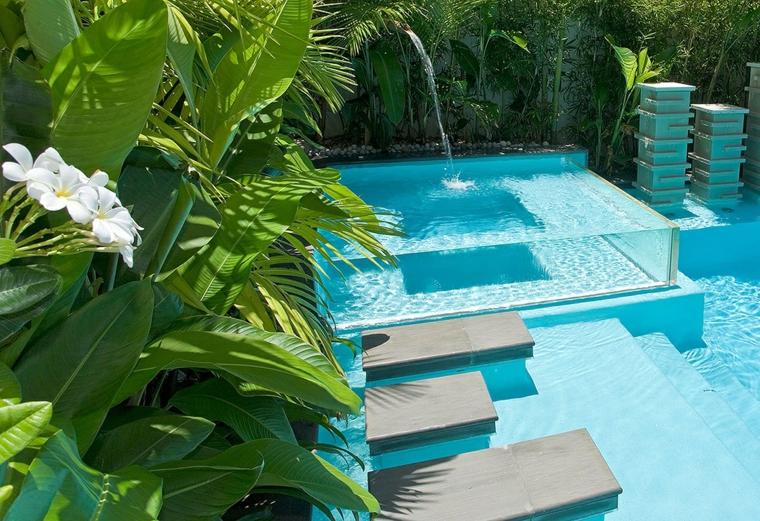 giardini con piscina proposta particolare originale