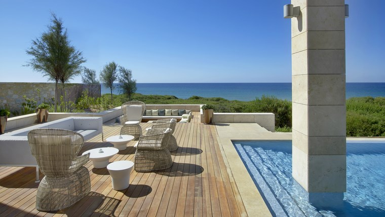 giardino con piscina suggerimento particolare area outdoor