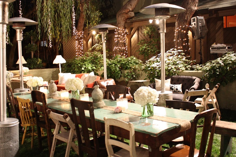 giardino shabby chic tavola decorata
