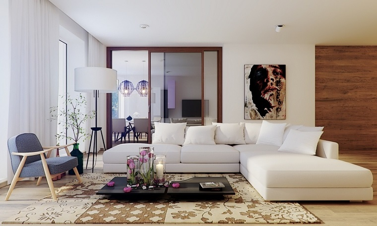 Mobili Soggiorno Angolari : Mobili bianchi per il soggiorno ecco come creare un ambiente