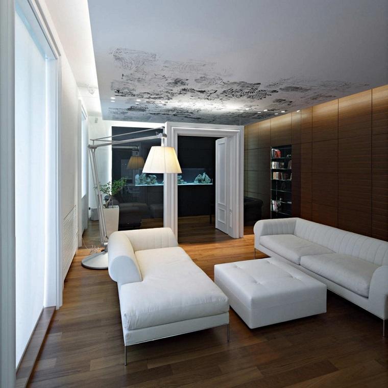 idea originale allestire soggiorno design moderno